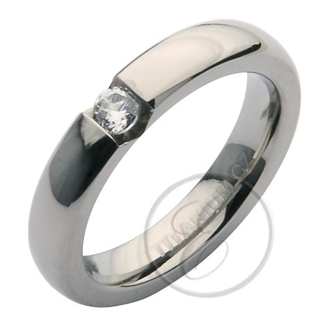 5mm Wedding Ring by 5mm Titanium Cz Engagement Wedding Ring Band