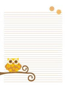 Owl Essay Writing by 7 Best Images Of Printable Owl Notebook Paper Free Printable Owl Stationery Printable Letter