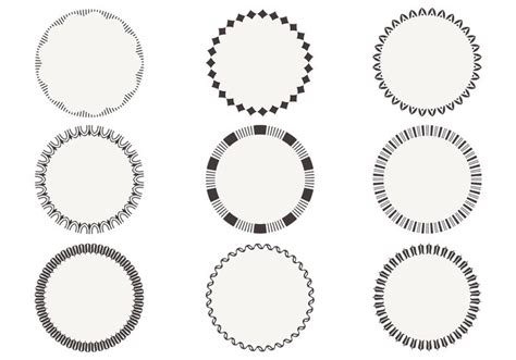simple circular frame brushes pack free photoshop