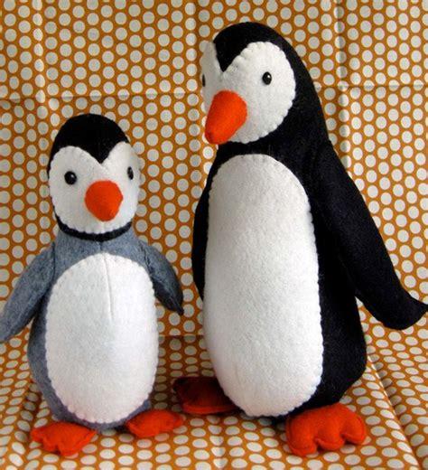 pattern felt penguin digital poppy and pip penguins sewing pattern shop