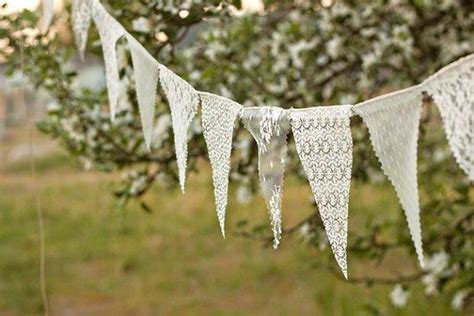 Lace Wedding Banner by Lace Bunting Pennant Banner Lace Bunting Wedding Banner