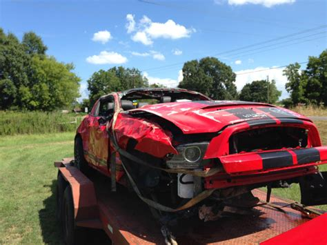 crashed mustang gt for sale wrecked gt500 shelby autos post