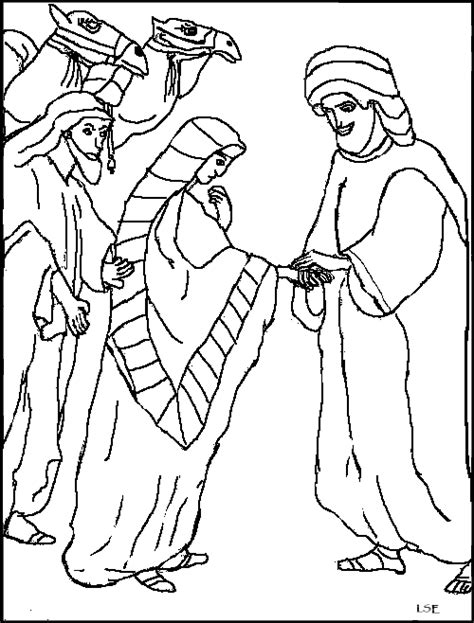 Isaac And Rebekah Coloring Pages free coloring pages of isaac and rebekah