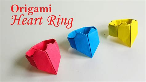 How To Make A Paper Ring Origami - how to make a origami ring diy paper ring