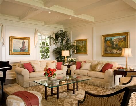 santa barbara colonial style living room