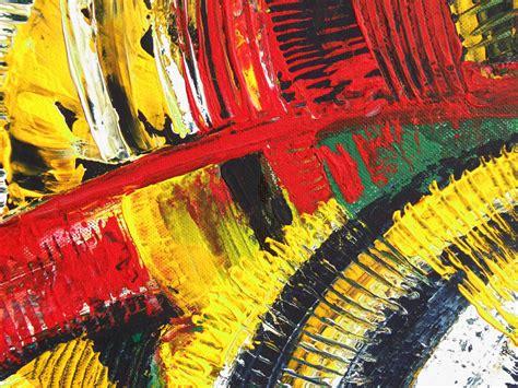 Hiasan Dindin Bunga Abstrak Kuning gambar abstrak bunga warna kuning lukisan latar belakang kreativitas kertas dinding