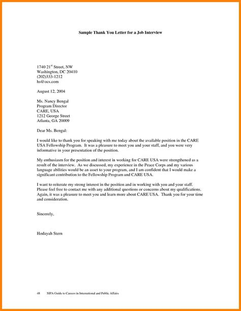 Thank You Letter After Offer 7 Thank You Notes Cio Resumed