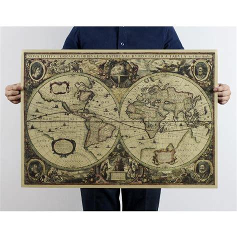 vintage style retro cloth poster globe old world nautical map gifts home decor ebay 72 51 5cm 2015 european vintage style cloth kraft paper