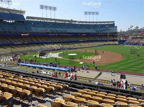 dodger seating view dodger stadium section 144 ilb seat views seatgeek