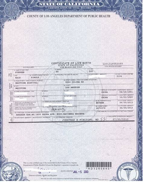 California Of Records Birth Certificates China Certified Translation Of California Birth Certificate Certified And