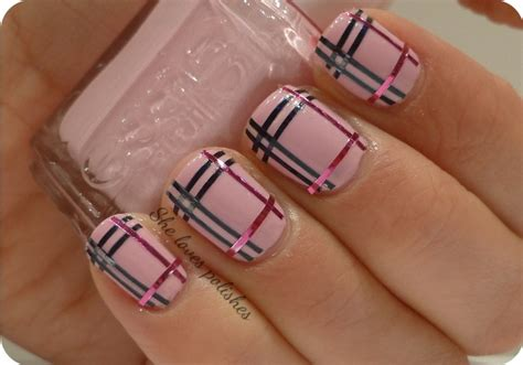 burberry pattern nails burberry nails designs nail art pinterest what is