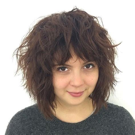shaggy hair chubby cheeks 40 refreshing variations of bangs for round faces