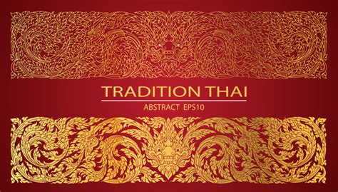 thai pattern font abstract line thai tradition pattern vector vector