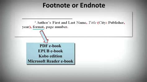 ebook bibliography format chicago notes bibliography style how to cite ebooks