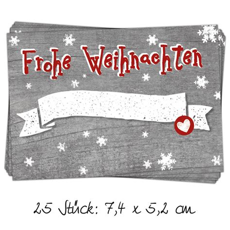 Etiketten Aufkleber Weihnachten by 25 St 252 Ck Aufkleber Etiketten Quot Frohe Weihnachten Quot Grau Mit