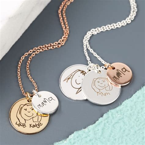 Makeup Jewelry Charming Or Disaster Waiting To Happen by Personalised Handwriting Disc Charm Necklace