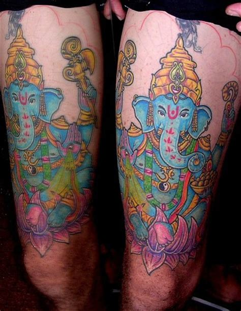 ganesha tattoo hip blue ganesha hip tattoo tattooimages biz