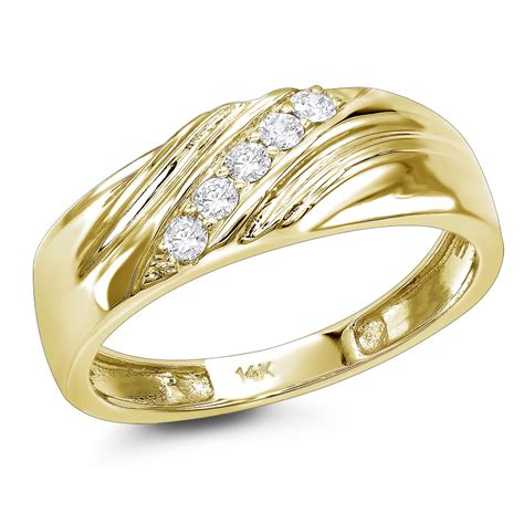 Wedding Bands by Mens 14k 5 Wedding Band 0 20ct