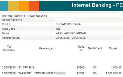 contoh format sms banking bni transfer sms banking bni memang tidak handal arry akhmad arman s