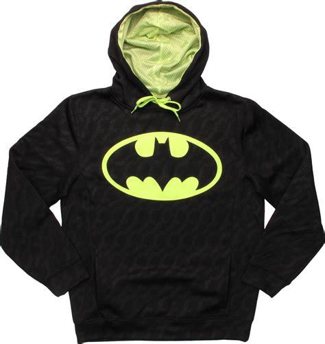 Pullover Hoodie Batman batman logo neon yellow pullover hoodie