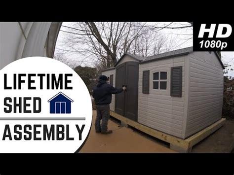 lifetime outdoor storage shed  wooden platform time
