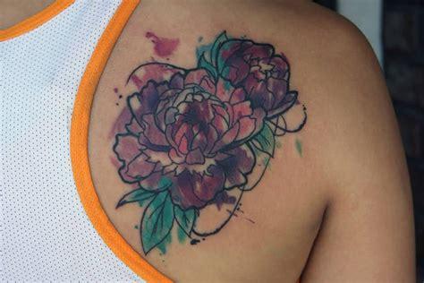 watercolor peony tattoo watercolor tattoos askideas