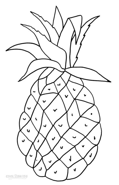 pineapple coloring page printable pineapple coloring pages for cool2bkids