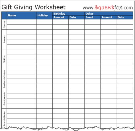gift chart template 5 budget friendly tactics for surviving black friday