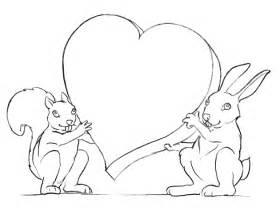 Dibujo Para Colorear De Conejos Enamorados sketch template
