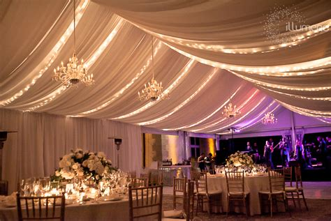 clever ideas christmas lights for wedding reception