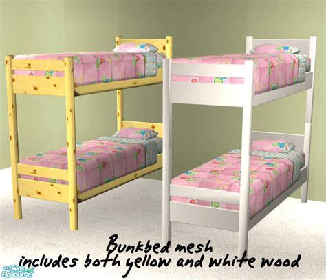 sims 2 bunk beds dot s bunk bed singlecheapmesh