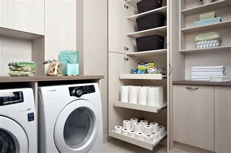 pull out laundry her for cabinet laundry room shelves design ideas