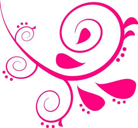 swirl clipart pink left swirl clip at clker vector clip