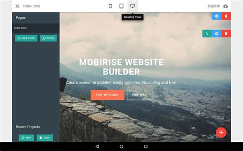 android themes builder mobirise website builder android apps on google play