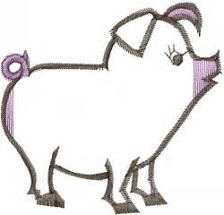 Pig Outline Embroidery Designs by Free Pig Outline Embroidery Design Annthegran