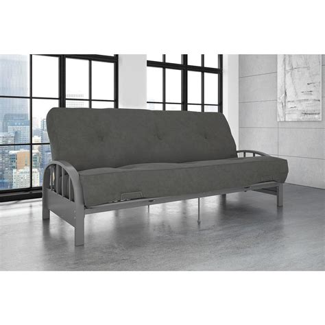futon frame dhp aiden size futon frame in silver 3273408 the