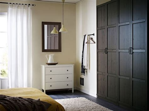 Pax Chest Of Drawers by Pax White Wardrobe With Hemnes Grey Brown Doors And Hemnes