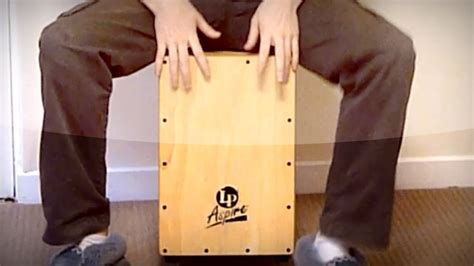 cajon tutorial cajon tutorial six stroke finger roll lesson youtube