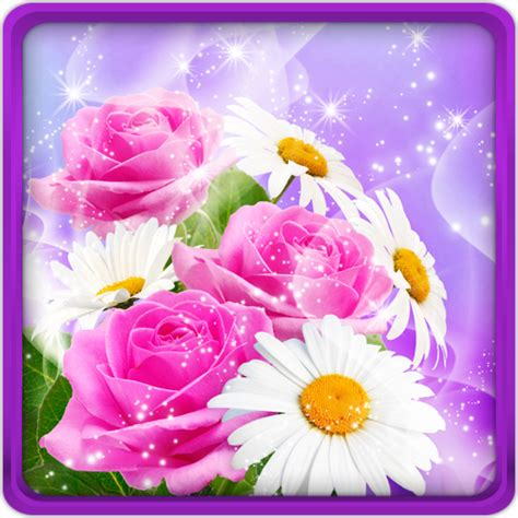glitter wallpapers of flowers download glitter flowers live wallpaper for pc