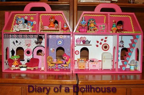 lalaloopsy dolls house i created my own lalaloopsy mini doll house diary of a dollhouse
