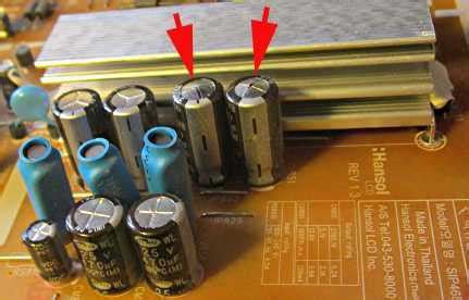 what causes bulging capacitors high reliability low esr capacitors for dvd television computer audiophile
