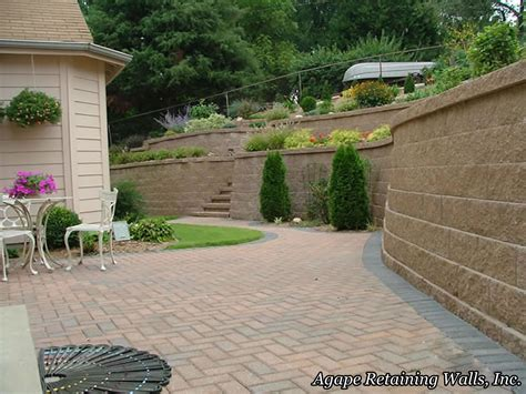 backyard retaining walls agape retaining walls inc terrace photo album 2