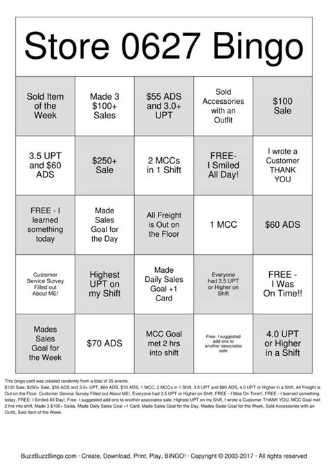 Retail Gift Card - retail bingo cards to download print and customize