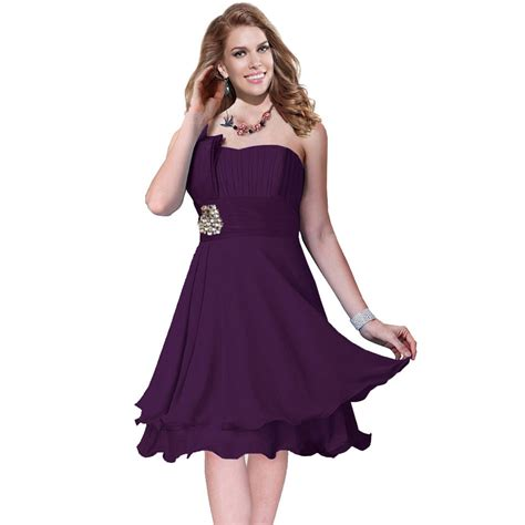 purple evening formal dresses overstock shopping one shoulder 2 layer chiffon formal cocktail prom party