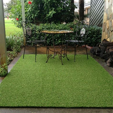 fake grass rug patio room area rugs cool terrace