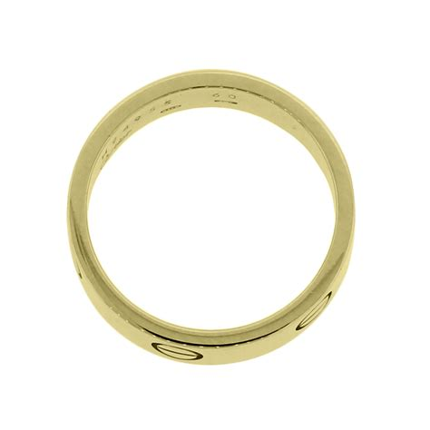 cartier 18k yellow gold size 60 ring
