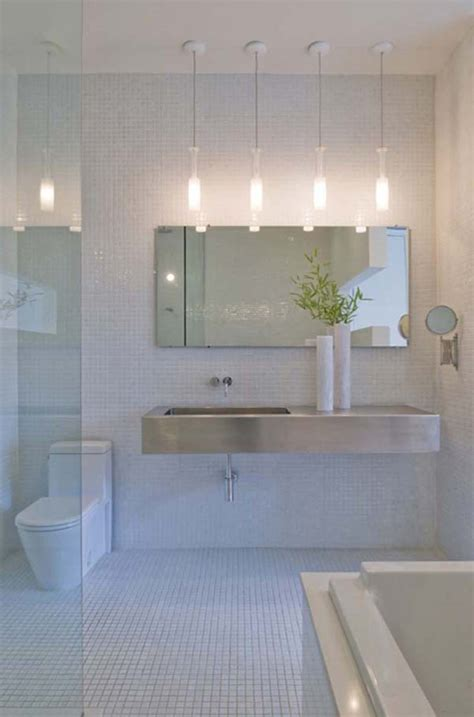 Bahtroom Best Pendant Lighting Bathroom Vanity For Awesome Light Bathrooms