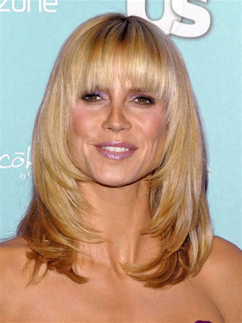 medium haircuts heidi klum style maddie hairstyles with bangs