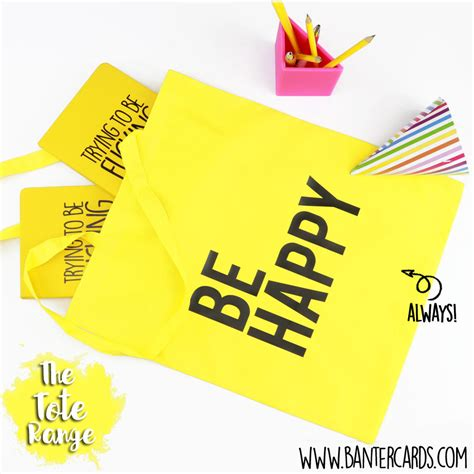 Be Happy Totebag be happy tote bag