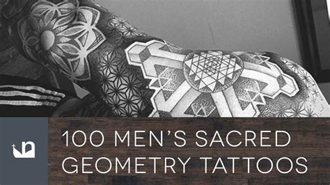 100 sacred geometry tattoos for men youtube